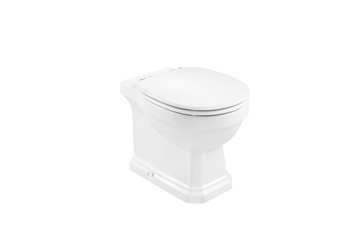 Single floorstanding Rimless WC with dual outlet