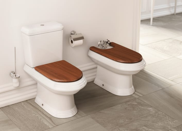Vitreous China Close Coupled Wc With Dual Outlet Close