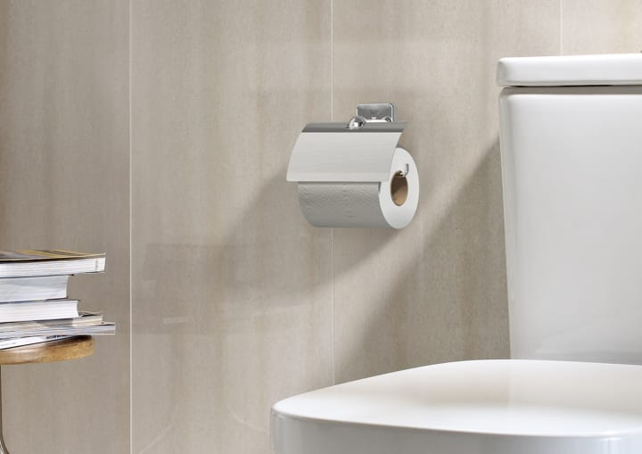 Toilet Roll Holder Without Cover Can Be Installed With