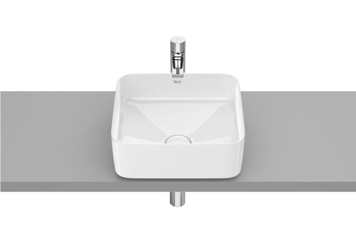 SQUARE - Over countertop FINECERAMIC® basin