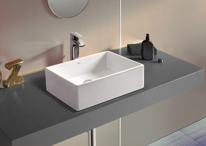 Sofia basin furniture solutions collections roca - Muebles para lavabos sobre encimera ...
