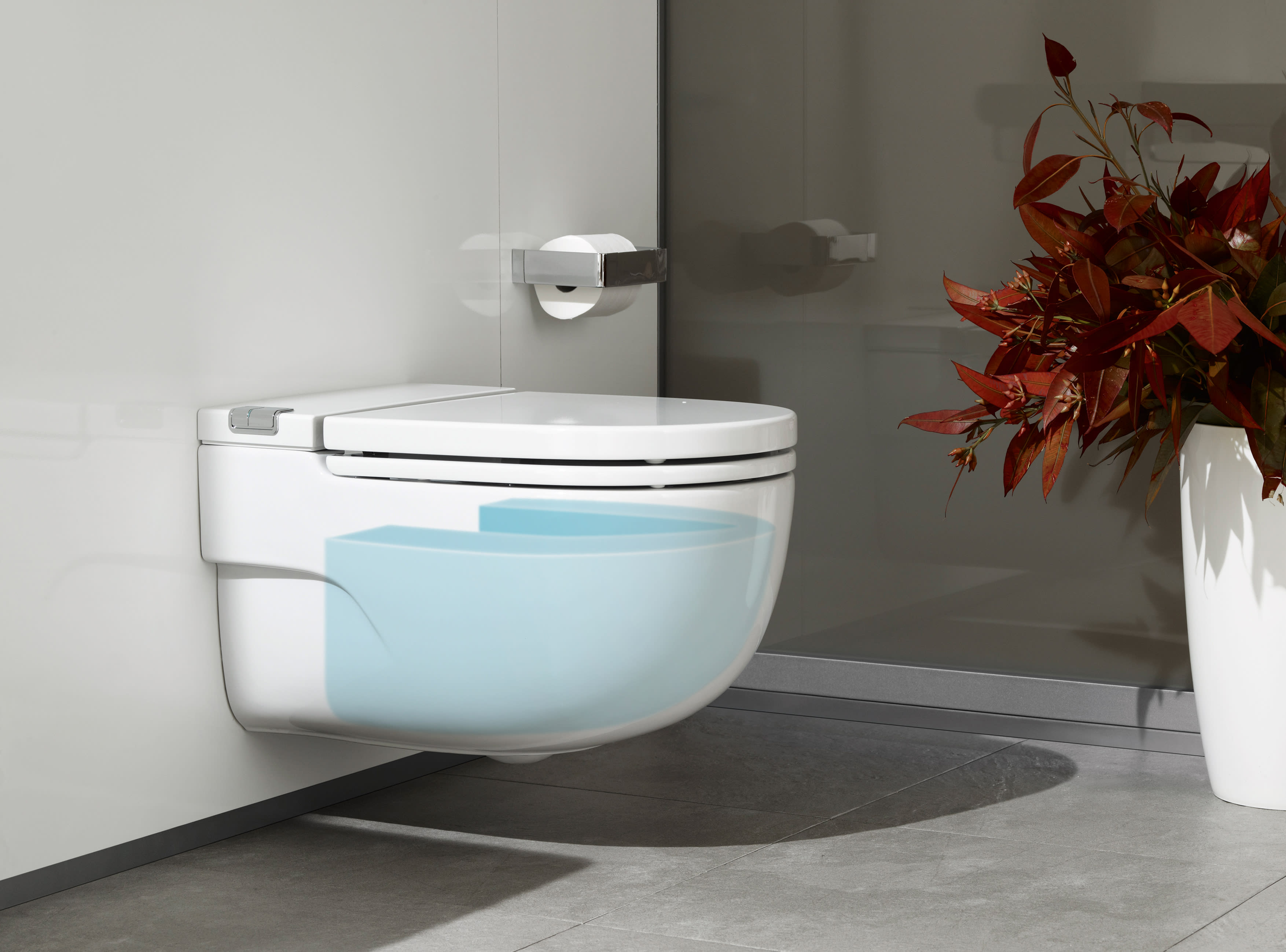 In Tank Wall Hung Toilet With Integrated Cistern