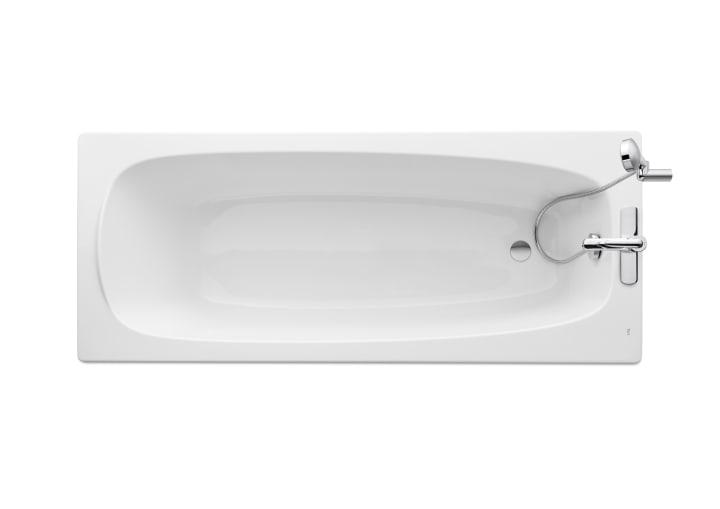 Rectangular acrylic bath with grips | Acrylic baths | Without ...