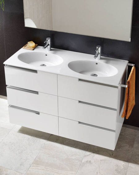 Roca double basin for furniture