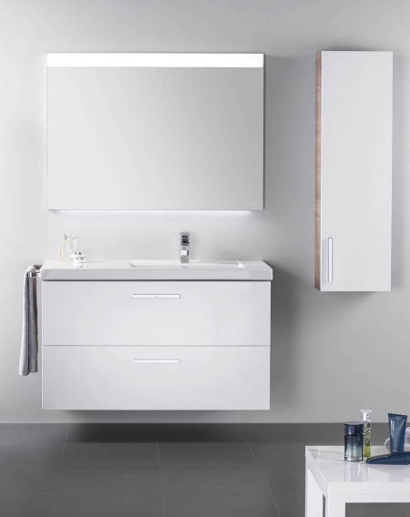 Prisma basin with an integrated base unit