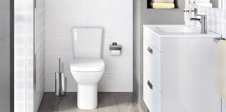 Debba collection by Roca for small bathrooms