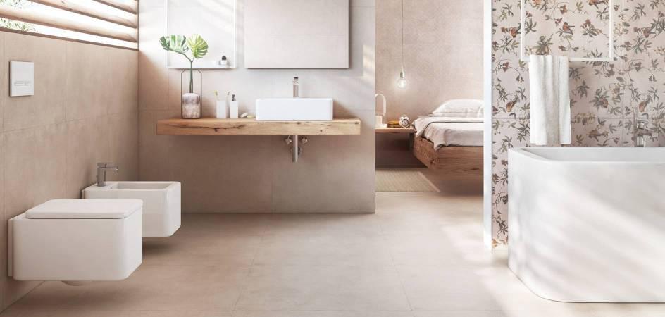 Minimal bathroom with Roca products