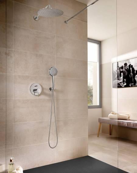 Lanta built-in basin for shower