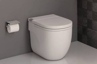 Toilet and cistern in one piece