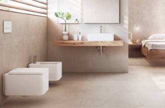 Minimal bathroom with Roca products