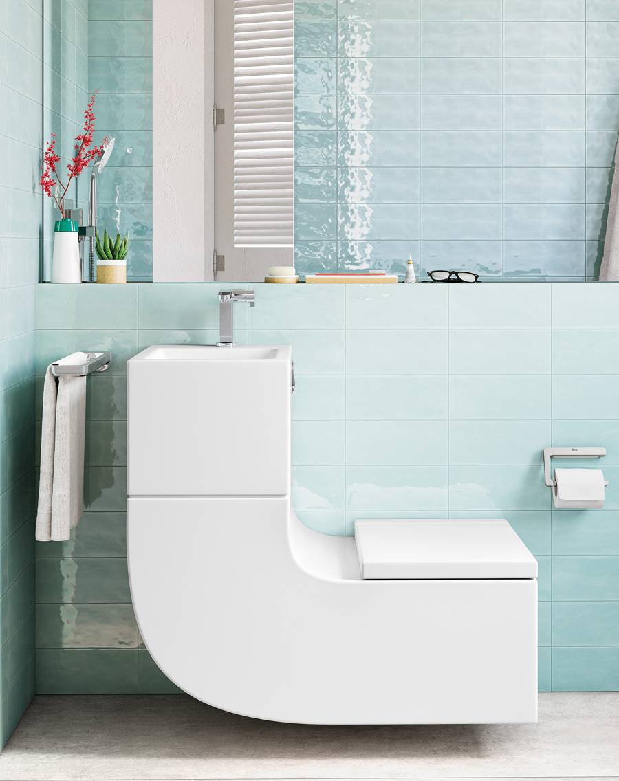 Discover the W+W - water saving basin and toilet in one piece | Roca ...