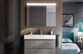 Espejo Prisma Confort y mueble Stratum-N de Roca
