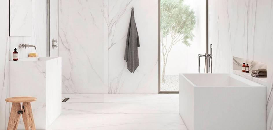 A trendy contemporary bathroom