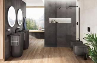 BLACK BASINS AND TOILETS FOR A STRIKING BATHROOM RENOVATION | ROCA