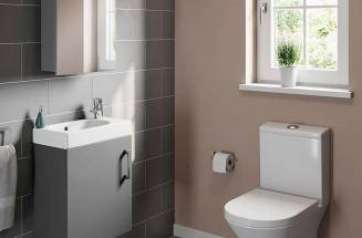 Small vanity units, compact and short-projection toilets: making the most of limited space